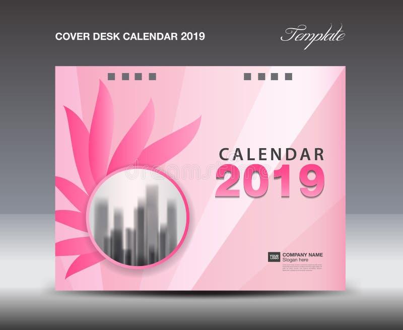 Ημερολογιακό 2019 σχέδιο γραφείων κάλυψης, πρότυπο ετήσια εκθέσεων, ιπτάμενο επιχειρησιακών φυλλάδιων, αγγελίες, βιβλιάριο, κατάλ ελεύθερη απεικόνιση δικαιώματος