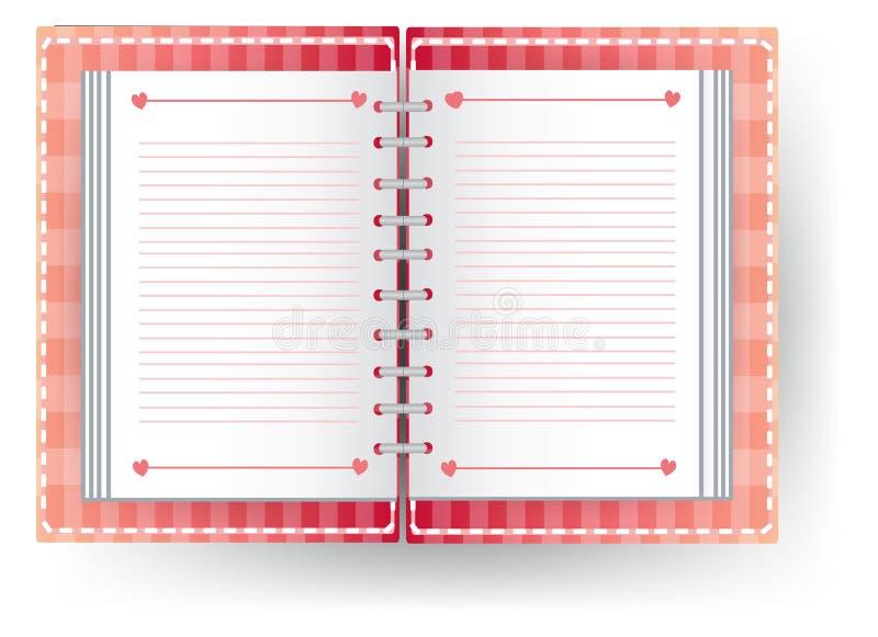 Ημερολόγιο αγάπης με τη γραμμή ελεύθερη απεικόνιση δικαιώματος