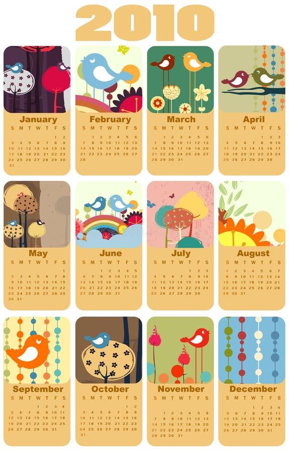 Ημερολόγιο για το 2010 ελεύθερη απεικόνιση δικαιώματος