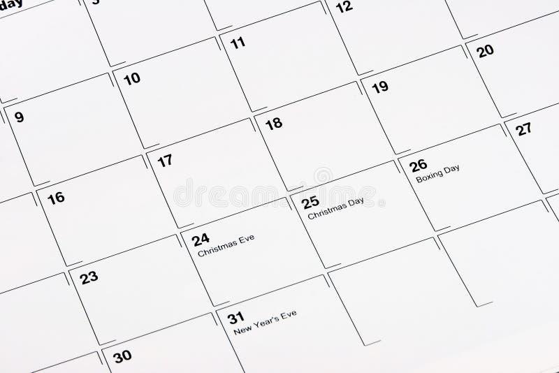 ημερολόγιο Δεκέμβριος στοκ εικόνα