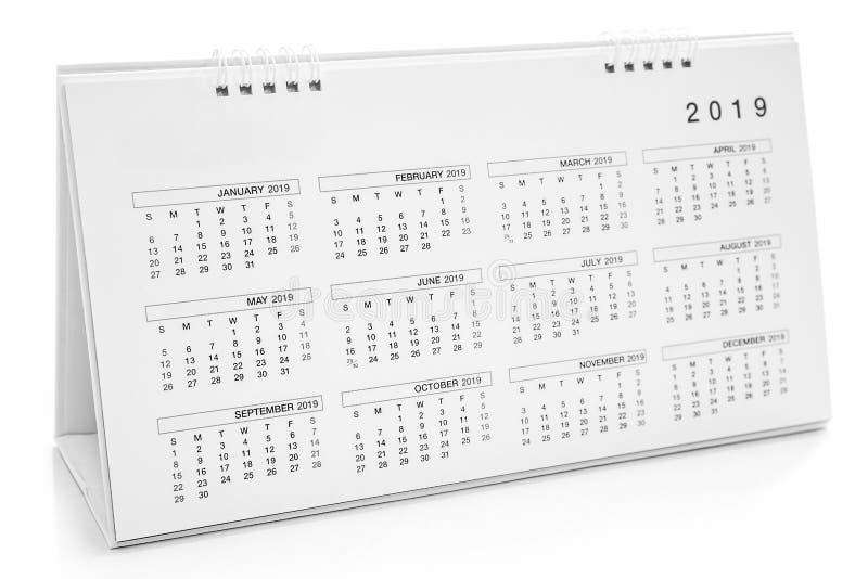 Ημερολόγιο του 2019 στοκ φωτογραφία με δικαίωμα ελεύθερης χρήσης