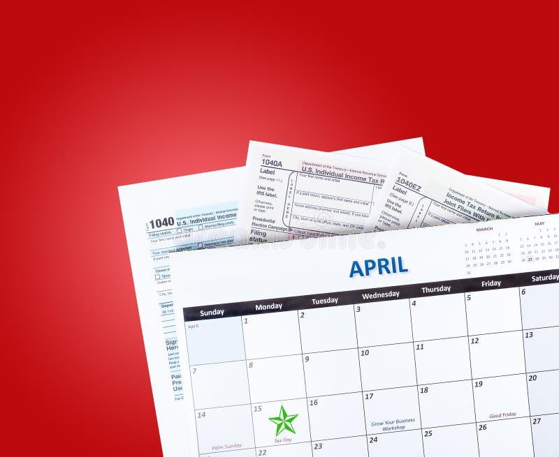 Ημερολόγιο φορολογικού χρόνου στοκ φωτογραφία