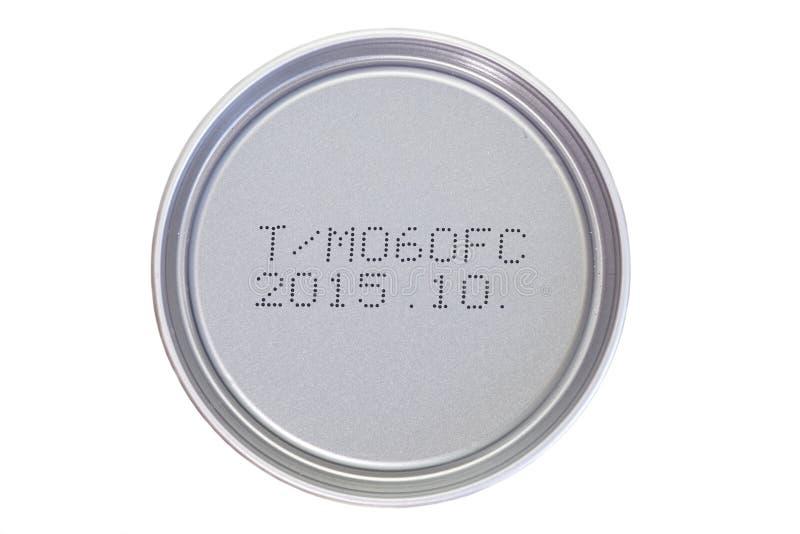 Ημερομηνία λήξης που τυπώνεται στοκ εικόνες