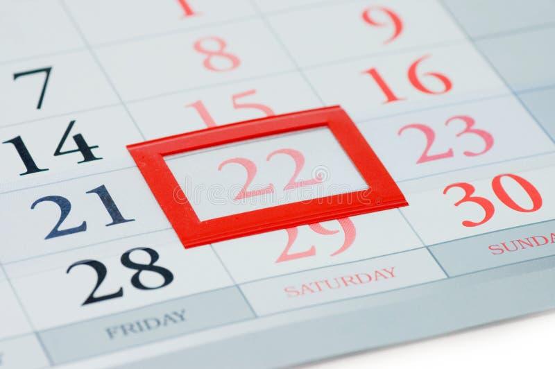 ημερομηνία που σημειώνετ&al στοκ φωτογραφία
