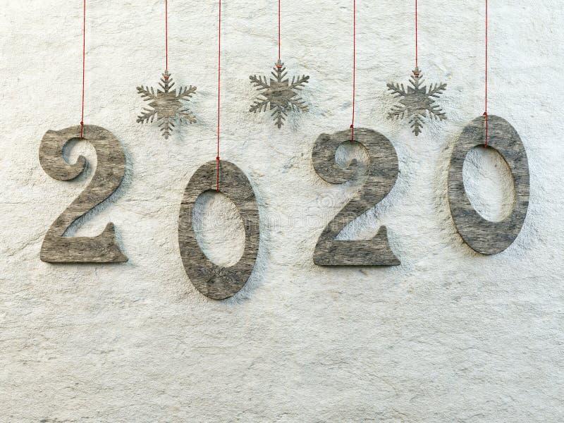 Ημερομηνία Πρωτοχρονιάς 2020 στοκ φωτογραφία με δικαίωμα ελεύθερης χρήσης