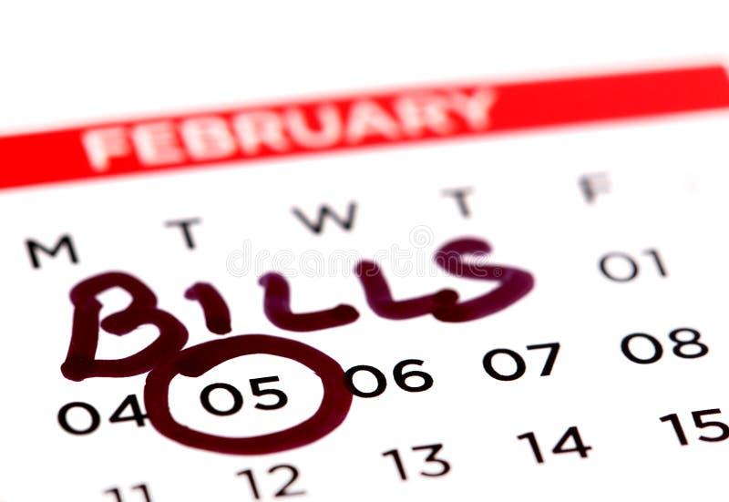 Ημερομηνία του Μπιλ στοκ φωτογραφία με δικαίωμα ελεύθερης χρήσης