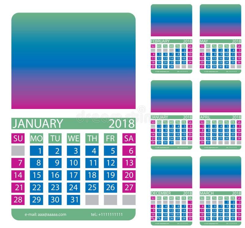 Ημερολογιακό πλέγμα Δεκέμβριος Ιανουάριος Φεβρουάριος Μάρτιος apse μπορέστε απεικόνιση αποθεμάτων