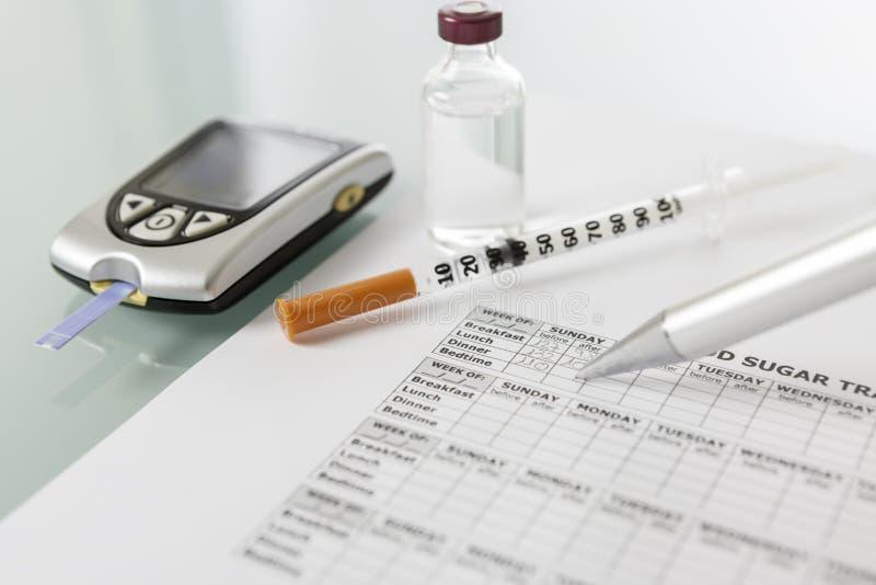 Ημερολόγιο γλυκόζης αίματος στοκ φωτογραφίες με δικαίωμα ελεύθερης χρήσης