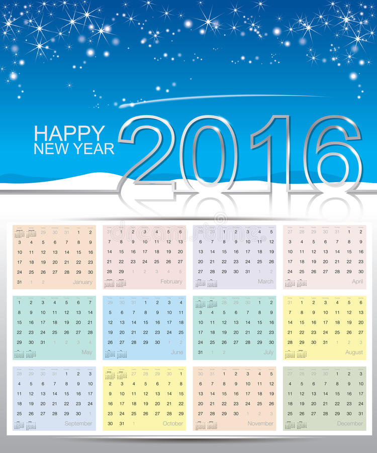 Ημερολόγιο καλής χρονιάς 2016 στοκ φωτογραφία με δικαίωμα ελεύθερης χρήσης