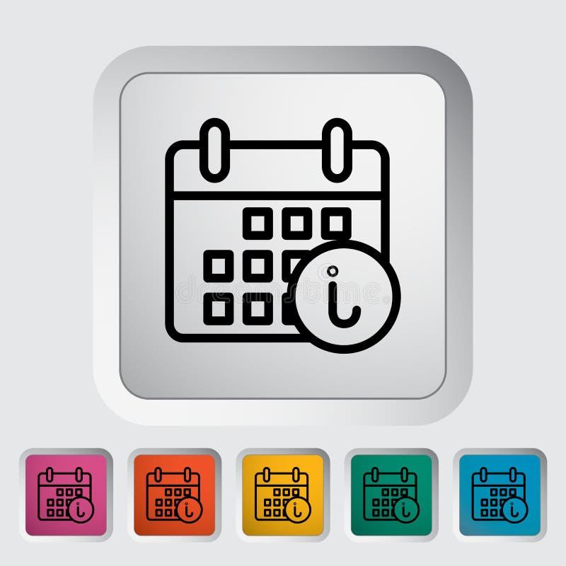 Ημερολόγιο με τις πληροφορίες ελεύθερη απεικόνιση δικαιώματος