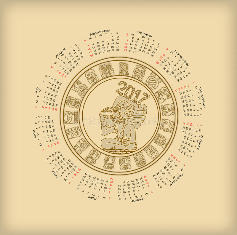 Ημερολόγιο 2017 με maya το symbolics ελεύθερη απεικόνιση δικαιώματος