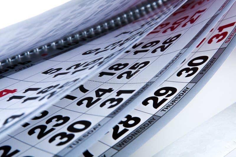 Ημερολόγιο τοίχων με τον αριθμό ημερών στοκ φωτογραφία με δικαίωμα ελεύθερης χρήσης