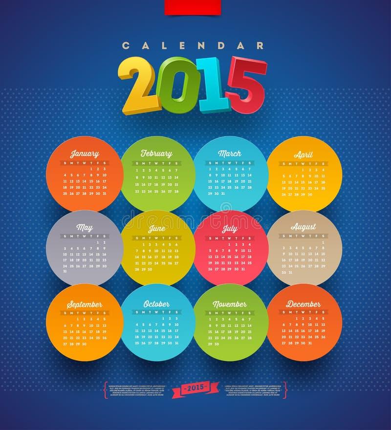 Ημερολόγιο 2015 απεικόνιση αποθεμάτων