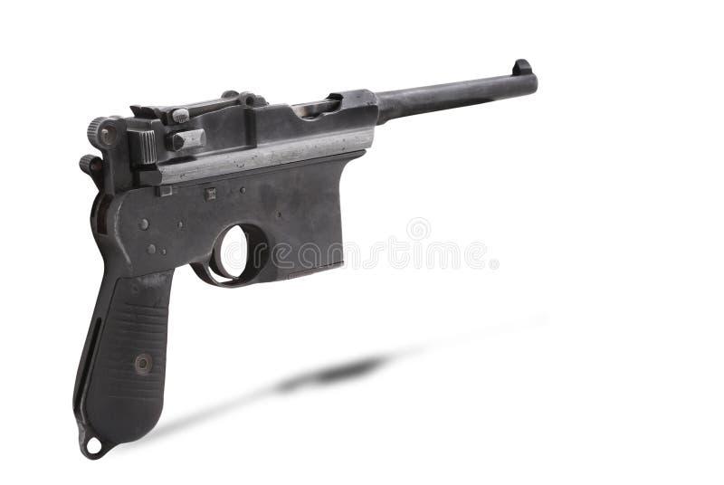 Ημιαυτόματο πιστόλι Mauser C96 στοκ εικόνα με δικαίωμα ελεύθερης χρήσης