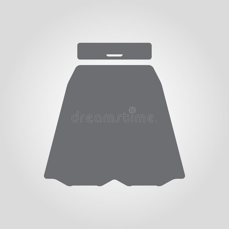 Ημικυκλικό εικονίδιο φουστών απεικόνιση αποθεμάτων