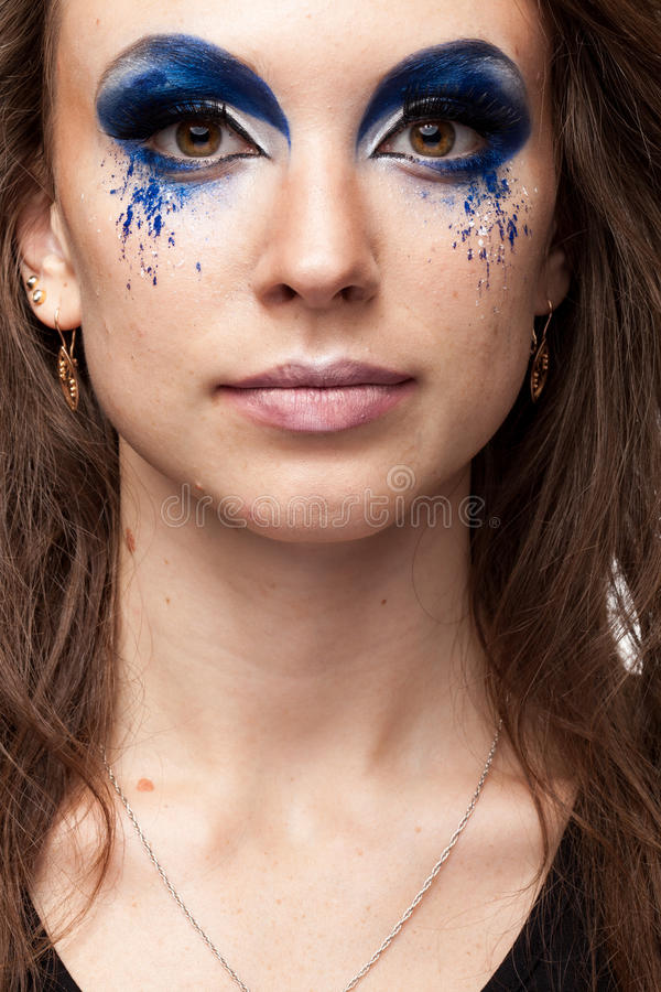 δημιουργικός αποτελέστε τη γυναίκα στοκ φωτογραφία με δικαίωμα ελεύθερης χρήσης