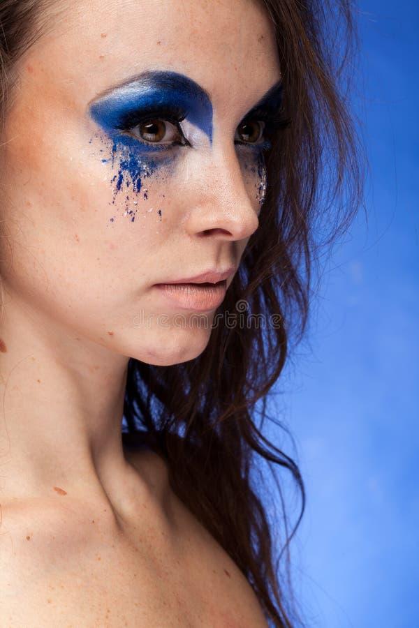 δημιουργικός αποτελέστε τη γυναίκα στοκ φωτογραφίες με δικαίωμα ελεύθερης χρήσης
