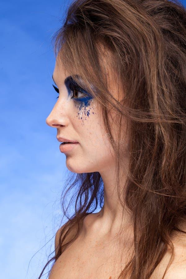 δημιουργικός αποτελέστε τη γυναίκα στοκ εικόνες με δικαίωμα ελεύθερης χρήσης