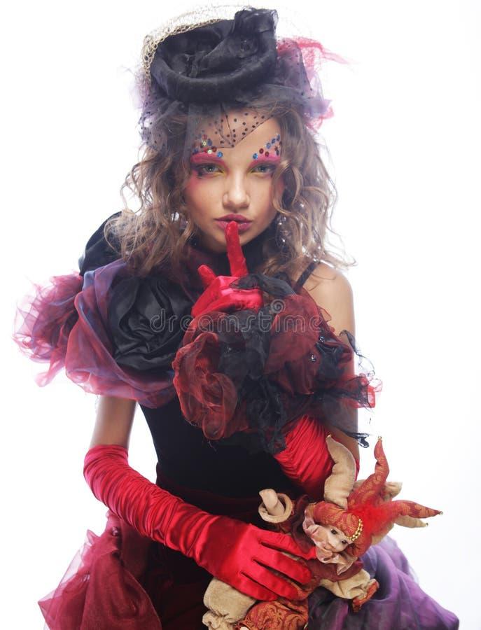 δημιουργικός αποτελέστ Φόρεμα φαντασίας στοκ φωτογραφία με δικαίωμα ελεύθερης χρήσης