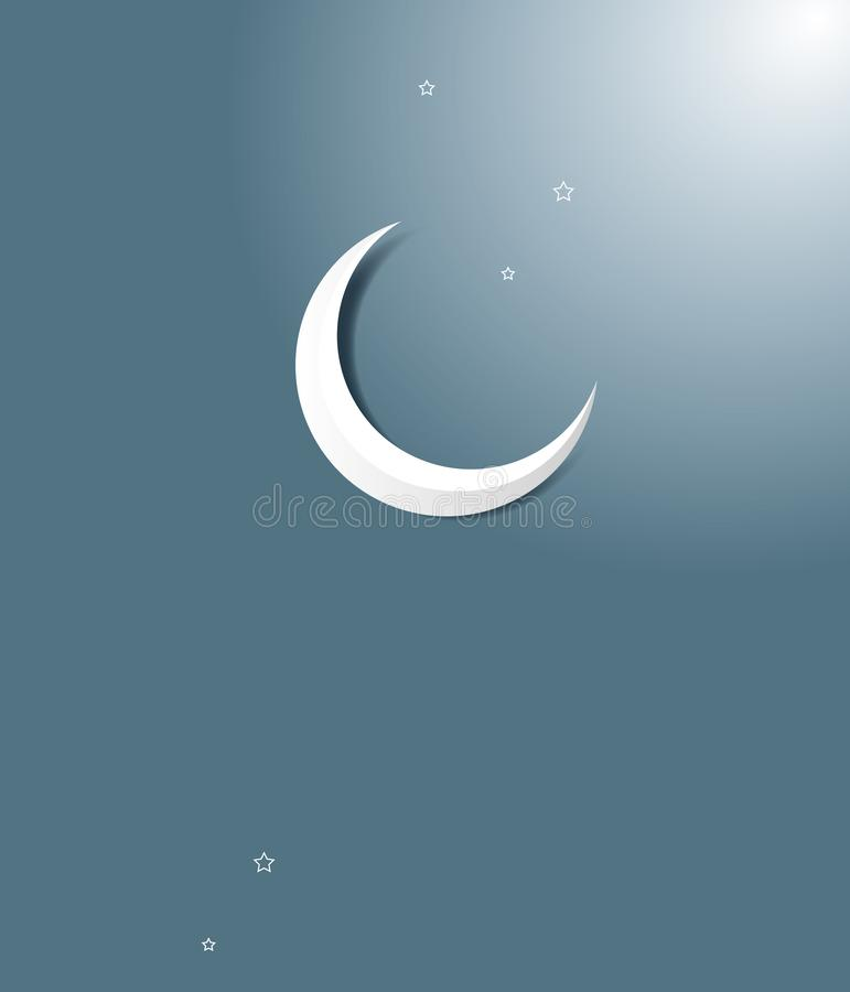 Ημισεληνοειδές φεγγάρι Ramadan ελεύθερη απεικόνιση δικαιώματος