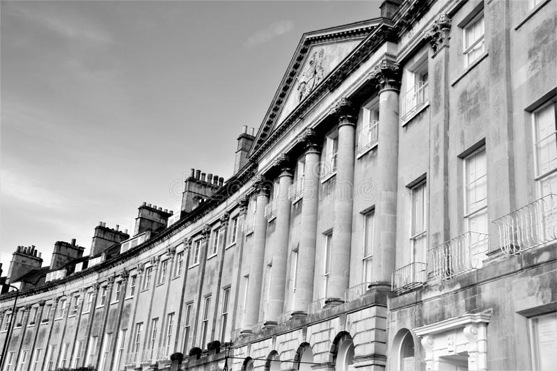 Ημισεληνοειδής της Γεωργίας αρχιτεκτονική του Κάμντεν, λουτρό, Αγγλία, UK στοκ φωτογραφία