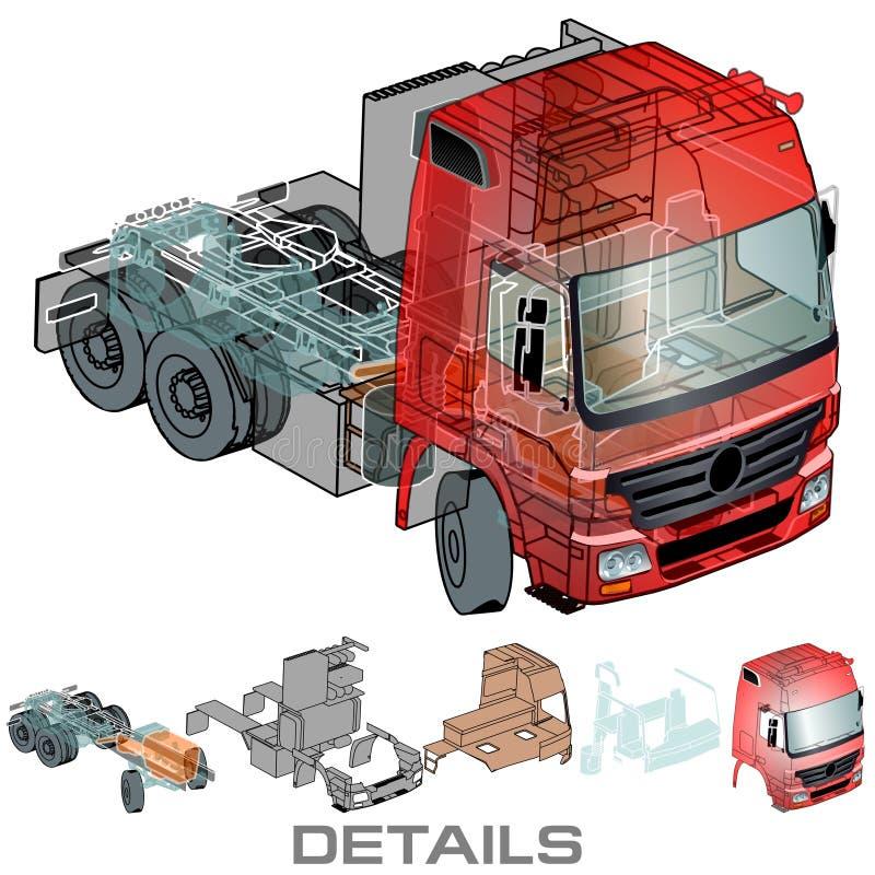 ημι διάνυσμα truck διανυσματική απεικόνιση