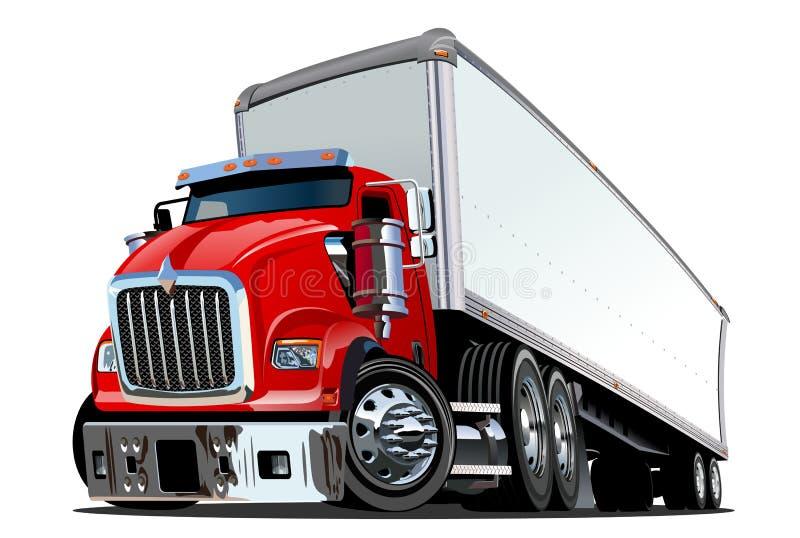 Ημι truck κινούμενων σχεδίων διανυσματική απεικόνιση