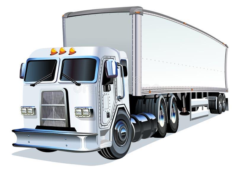 Ημι truck κινούμενων σχεδίων απεικόνιση αποθεμάτων