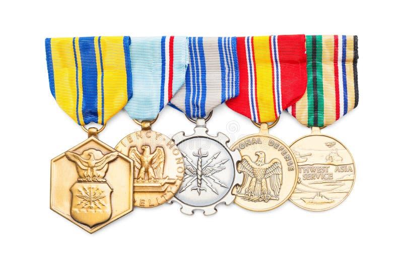 Στρατιωτικά μετάλλια στοκ φωτογραφία με δικαίωμα ελεύθερης χρήσης