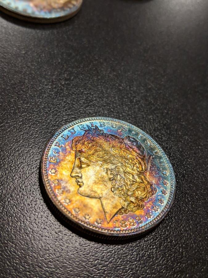 Ηνωμένες Πολιτείες 1882 ασημένιο δολάριο του Morgan στοκ φωτογραφία με δικαίωμα ελεύθερης χρήσης