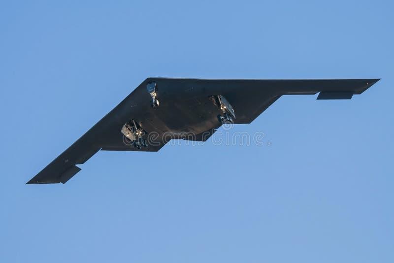 Ηνωμένη πολεμική αεροπορία β-2 βομβαρδιστικό αεροπλάνο μυστικότητας στοκ φωτογραφία