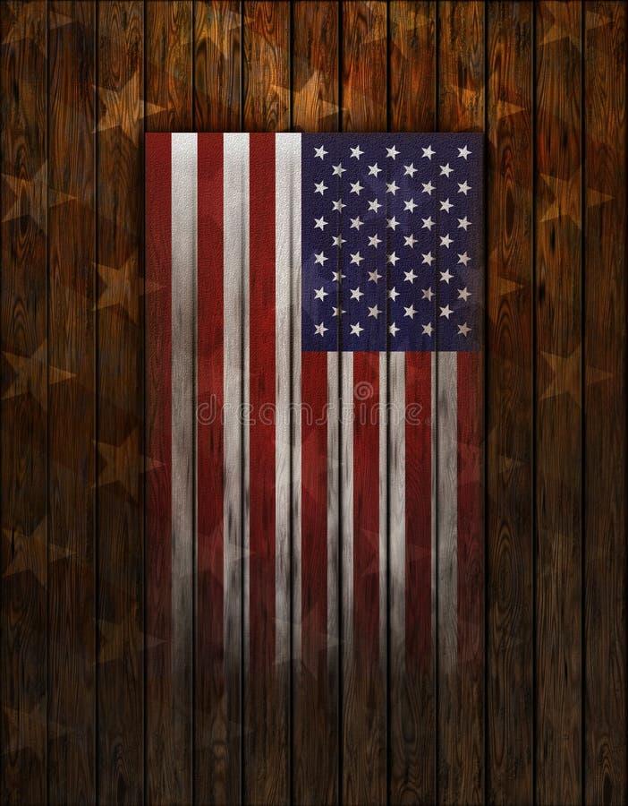 Ηνωμένη σημαία χρωματίζω στον παλαιό ξύλινο τοίχο ελεύθερη απεικόνιση δικαιώματος