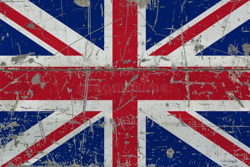 Ηνωμένη σημαία Grunge στην παλαιά γρατσουνισμένη ξύλινη επιφάνεια Εθνικό εκλεκτής ποιότητας υπόβαθρο στοκ εικόνες με δικαίωμα ελεύθερης χρήσης