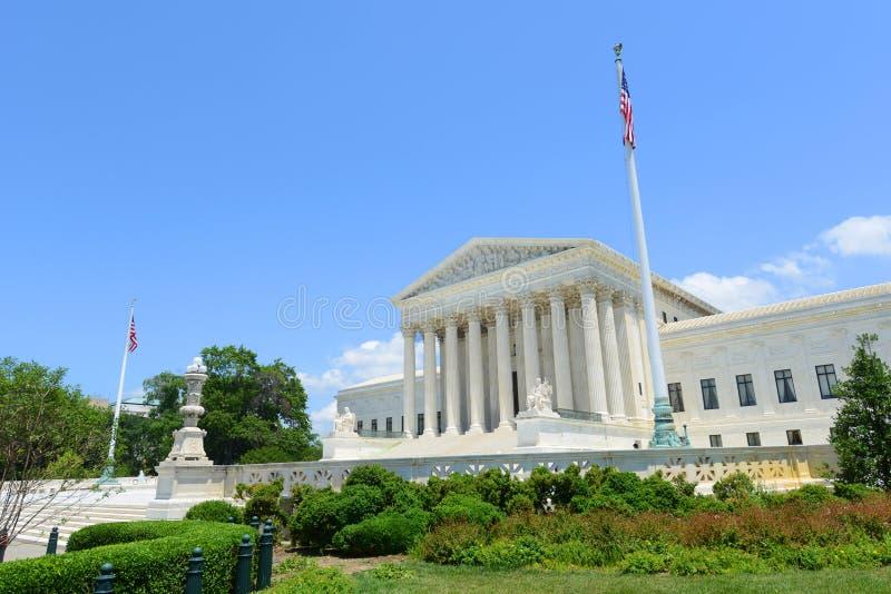 Ηνωμένο ανώτατο δικαστήριο στο Washington DC, ΗΠΑ στοκ εικόνα με δικαίωμα ελεύθερης χρήσης