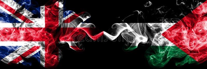 Ηνωμένο Βασίλειο εναντίον της Παλαιστίνης, παλαιστινιακές καπνώείς α διανυσματική απεικόνιση