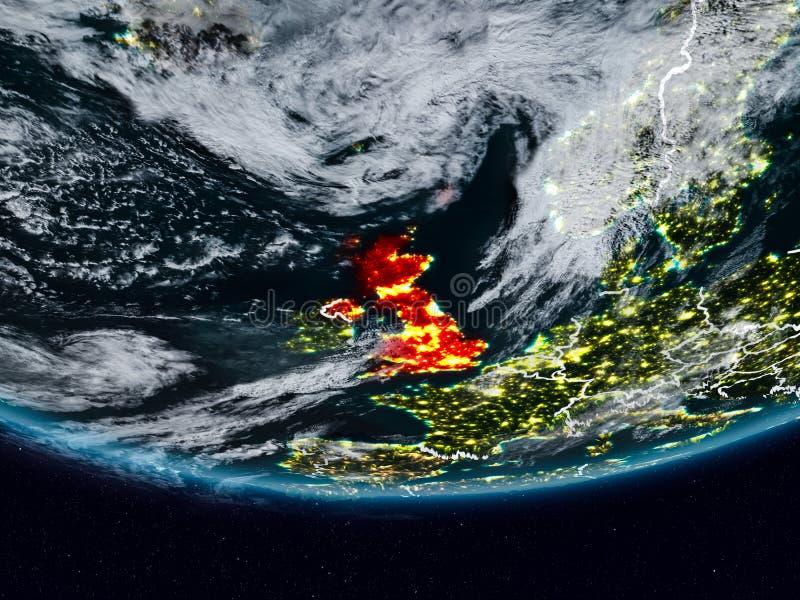 Ηνωμένο Βασίλειο κατά τη διάρκεια της νύχτας στοκ φωτογραφία με δικαίωμα ελεύθερης χρήσης