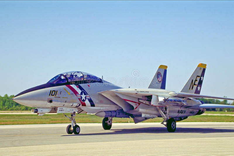 Ηνωμένο ναυτικό F14 Tomcat στοκ φωτογραφία με δικαίωμα ελεύθερης χρήσης