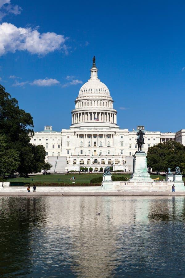 Ηνωμένο Capitol κτήριο, Ουάσιγκτον, συνεχές ρεύμα στοκ φωτογραφία