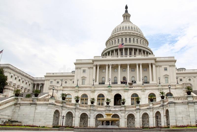 Ηνωμένο Capitol κτήριο στο Washington DC, ΗΠΑ Ηνωμένο συνέδριο στοκ εικόνα