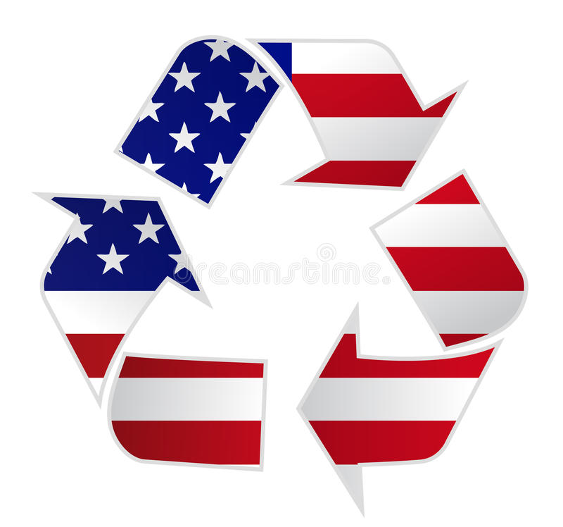 ΗΠΑ ανακύκλωσης διανυσματική απεικόνιση