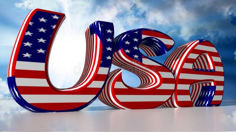 ΗΠΑ: Ηνωμένες Πολιτείες της Αμερικής απεικόνιση αποθεμάτων