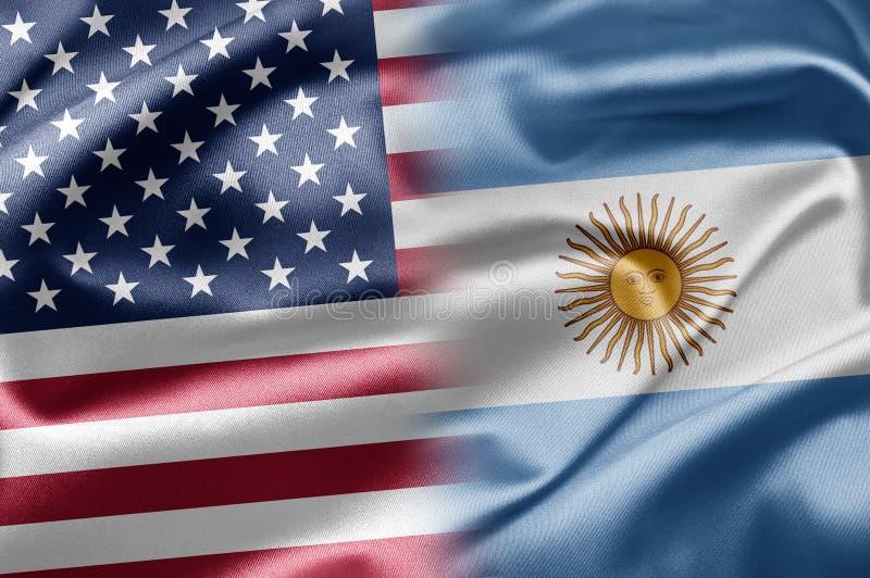 ΗΠΑ και Αργεντινή διανυσματική απεικόνιση