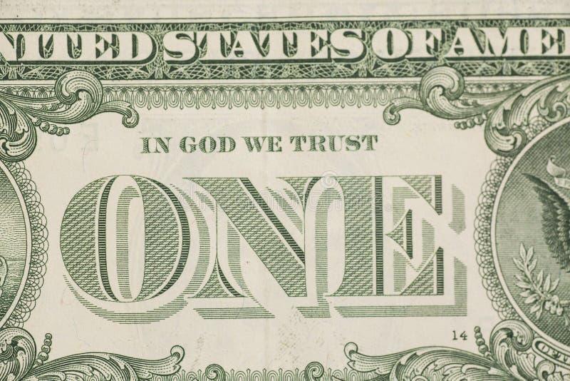 ΗΠΑ μακροεντολή κινηματογραφήσεων σε πρώτο πλάνο λογαριασμών ενός δολαρίου, τραπεζογραμμάτιο 1 Δολ ΗΠΑ στοκ φωτογραφία με δικαίωμα ελεύθερης χρήσης
