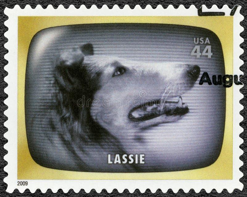 ΗΠΑ - 2009: παρουσιάζει Lassie, πρόωρη μνήμη TV στοκ εικόνες
