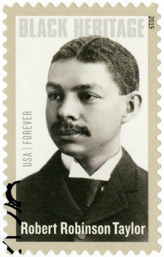 ΗΠΑ - 2015: παρουσιάζει Robert Robinson Taylor το 1868-1942, αμερικανικός αρχιτέκτονας, μαύρη κληρονομιά στοκ φωτογραφία με δικαίωμα ελεύθερης χρήσης