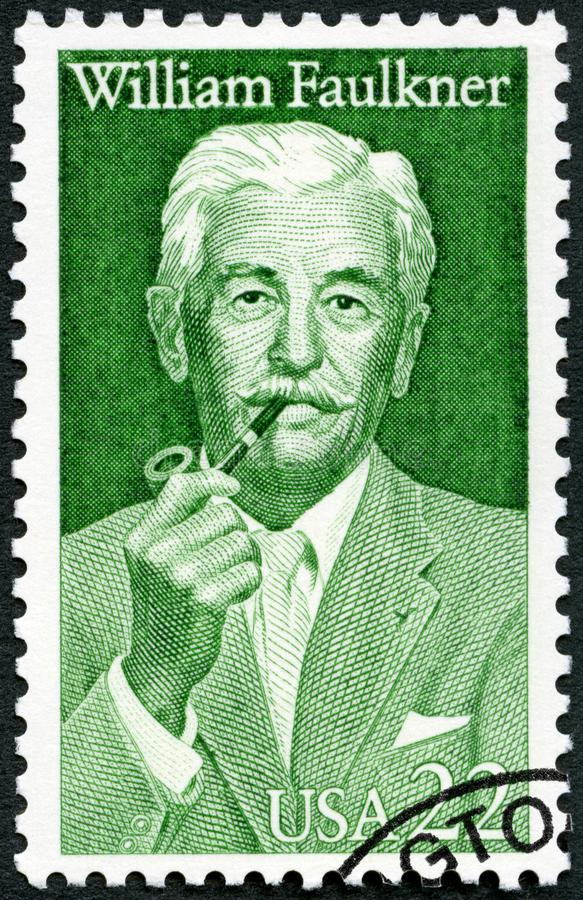 ΗΠΑ - 1987: παρουσιάζει William Cuthbert Faulkner το 1897-1962, μυθιστοριογράφος, λογοτεχνική σειρά τεχνών στοκ φωτογραφία με δικαίωμα ελεύθερης χρήσης