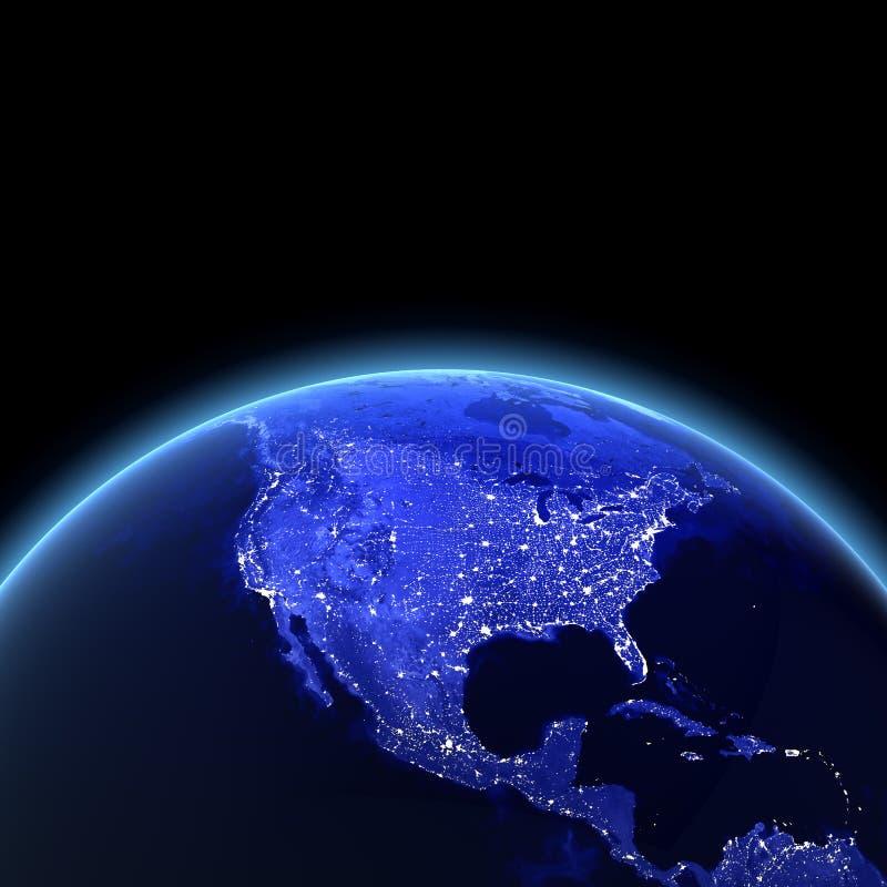 ΗΠΑ τη νύχτα διανυσματική απεικόνιση