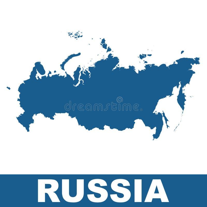 ηπειρωτικός χάρτης πολιτική Ρωσία Διάνυσμα επίπεδο ελεύθερη απεικόνιση δικαιώματος