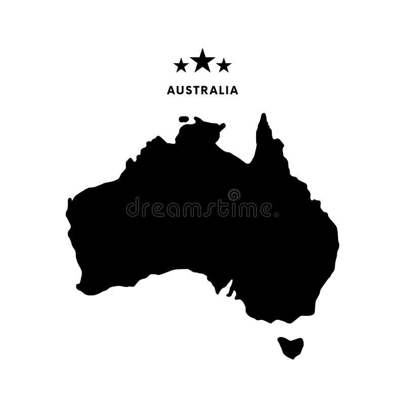 ηπειρωτικός χάρτης της Αυστραλίας πολιτικός επίσης corel σύρετε το διάνυσμα απεικόνισης διανυσματική απεικόνιση