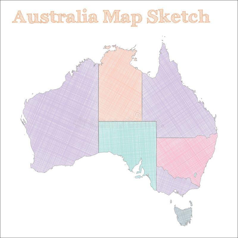 ηπειρωτικός χάρτης της Αυστραλίας πολιτικός διανυσματική απεικόνιση